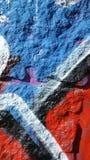 在墙壁-细节上的街道画 免版税库存照片