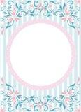 在墙纸背景的圆的框架 库存图片