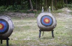 """在增加的领域、光和火光作用,卑鄙""""choose的射箭目标您的目标, targeted†, †成功生活goals† 免版税库存照片"""