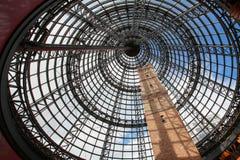 在墨尔本中央商城的塔 免版税库存图片