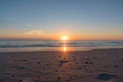在墨尔本海滩,佛罗里达的日出 库存照片