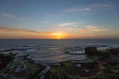 在墨尔本,澳大利亚附近的日落 免版税库存图片