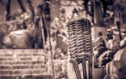 在墨西哥坟园的Torche 免版税库存照片