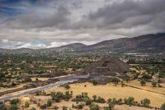 在墨西哥城3附近的古老墨西哥城市 库存照片