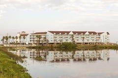 在墨西哥湾海岸的公寓在得克萨斯 库存照片