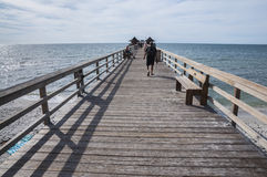 在墨西哥湾,佛罗里达的码头 图库摄影