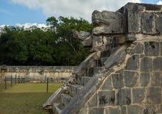 在墨西哥考古学视域奇琴伊察的金星平台 免版税库存图片