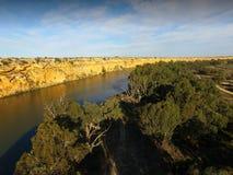 在墨累河的大弯在Nildottie附近 免版税图库摄影