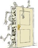在壁橱的骨骼 免版税库存照片