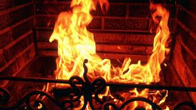 在壁炉的火 影视素材