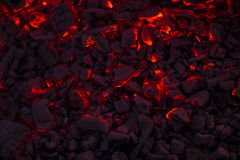 在壁炉的灼烧的木柴 库存照片