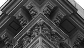 在壁角的buildingÂ的顶部花卉生物 库存图片
