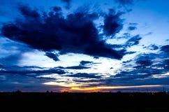 在壮观的多云天空 免版税图库摄影