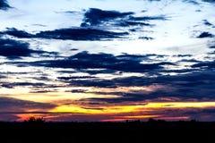 在壮观的多云天空 库存图片