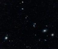 在处女座的星系群 库存照片
