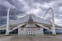 在复杂雅典奥林匹克的体育的雅典奥林匹克室内自行车赛场 库存照片