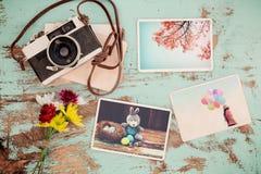 在复活节快乐记忆和乡情的象册  免版税图库摄影