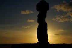 在复活节岛的Moai雕象 免版税图库摄影