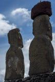 在复活节岛,智利上的Moai 免版税图库摄影