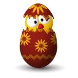 在复活节彩蛋的鸡 免版税库存照片
