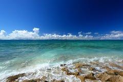 在夏令时的华美的海滩 免版税图库摄影