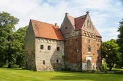 在夏令时skane的Borgeby城堡 库存照片