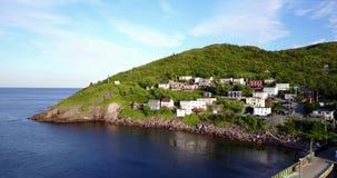 在夏天日落期间的美丽的狭窄港口半岛,纽芬兰,加拿大 股票录像