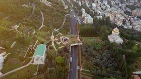 在夏天期间,一个公园的跨线桥在以色列 股票视频