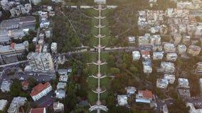 在夏天期间,一个公园的跨线桥在以色列 股票录像
