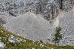 在夏天期间,七个湖的谷在特里格拉夫峰国家公园 免版税库存照片