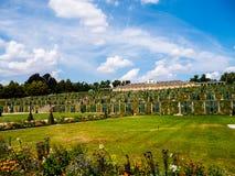 在夏天期间,宫殿Sanssouci在波茨坦 图库摄影