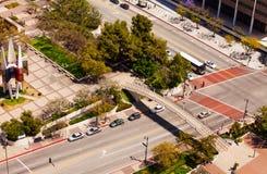 在夏天期间,寺庙街道在洛杉矶市 免版税图库摄影