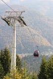在夏天期间,山空中览绳 免版税图库摄影