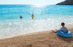 在夏天爱奥尼亚海的系列 图库摄影