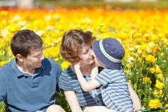 在夏天的家庭 免版税图库摄影