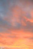 在夏天的日落天空 免版税库存照片