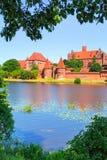在夏天风景的马尔堡城堡 图库摄影