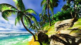 在夏威夷海岛上的天堂 免版税库存照片