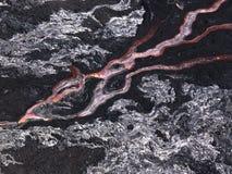 在夏威夷火山国家公园的熔岩流 库存照片