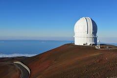 在夏威夷的大岛的冒纳凯阿火山望远镜 库存图片