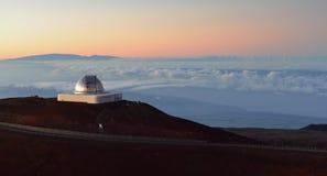 在夏威夷的大岛的冒纳凯阿火山望远镜 免版税库存图片