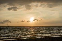在夏威夷的大岛的美好的日落 免版税库存照片