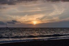 在夏威夷的大岛的美好的日落 免版税库存图片