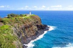 在夏威夷的Kilauea灯塔 库存图片