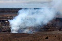 在夏威夷,大海岛,地热喷出 免版税库存照片