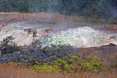 在夏威夷-大岛的火山运动 免版税库存图片