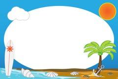 在夏季的海滩框架 免版税库存图片