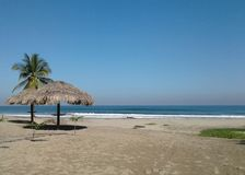 在夏时的美国海滩 免版税库存图片