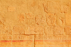 在外墙上的象形文字的雕刻 库存照片