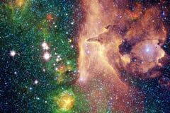 在外层空间的令人敬畏的星系 不尽的波斯菊Starfields  美国航空航天局装备的这个图象的元素 库存图片